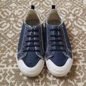 Boy's Slip-on Denim Sneakers